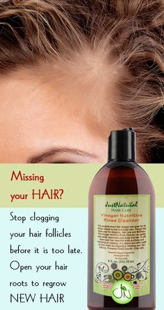 Whether your hair stops growing due to age, hereditary, chemical processing or other factors this rinse is your first step in the battle to restore the beautiful full hair that you were born with. Avoid the use of harsh hair care products that could affect hair follicles and may eventually lead to hair loss. Learn more at https://justnutritive.com/vinegar-nutritive-rinse-cleanser/
