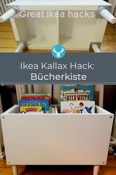 Latest Pic Ikea Kallax Buecherkiste Hack Concepts An Ikea kids' space continues to amaze the little ones, as they are offered a whole lot more than Etagere Kallax Ikea, Ikea Kallax Shelf, Ikea Kallax Hack, Ikea Storage, Storage Hacks, Ikea Closet Hack, Closet Hacks, Ikea Trofast Regal, New Swedish Design