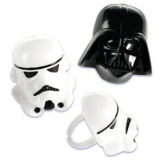 Star Wars Darth Vader and Stormtrooper Cupcake by ABirthdayPlace, $4.99