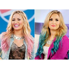 Demi Lovato's Ever-Changing Hair Color US Weekly ❤ liked on Polyvore featuring demi lovato and hair