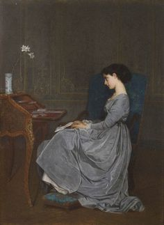 The Letter by Auguste Toulmouche (1867)