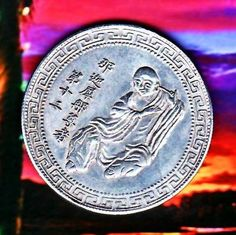 Large Old rare ancient Chinese Buddhist Monk Commemorative Coin