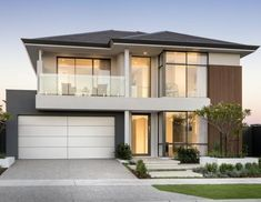 Webb & Brown-Neaves is an award winning Luxury Home Builder in Perth & WA. View our Custom Two Storey Homes Designs, find Display Homes & more. 2 Storey House Design, House Front Design, Roof Design, Modern House Design, Facade House, House Roof, Double Storey House Plans, Storey Homes, Dream House Exterior
