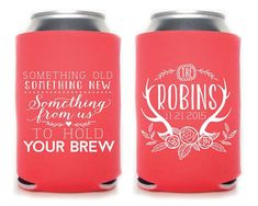 Wedding Favor Wedding Coozies Something Old by SipHipHooray