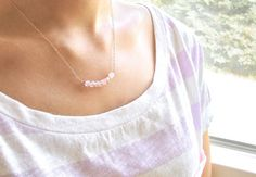 rose quartz necklace #jewelry #necklace