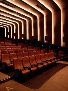 amc cinema Hong Kong - Different Ideas Auditorium Design, Auditorium Architecture, Theatre Architecture, Architecture Design, Hong Kong Architecture, Hall Interior Design, Home Theater Design, Cinema Theatre, Home Theaters