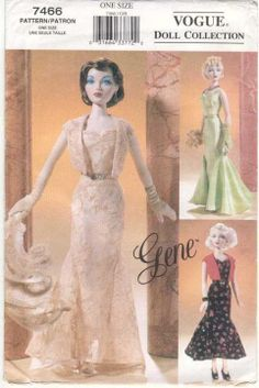 Vogue Doll Collection Pattern For Gene Doll Clothes Hello and Welcome to my Shop offered here is one Vogue Gene Doll Pattern and Instruction Sheets for Sewing Evening Wear Dresses Sewing Doll Clothes, Sewing Dolls, Doll Clothes Patterns, Doll Patterns, Clothing Patterns, Dress Patterns, Dolls Dolls, Felt Dolls, Barbie Sewing Patterns