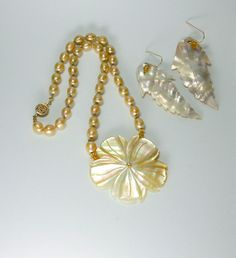 Hand Knotted Gold Pearls and14kt Gold by AussenWolfDesigns on Etsy, $146.00