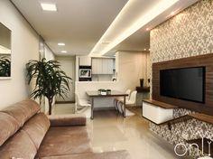 Sala de Tv, sala de jantar e cozinha integrados