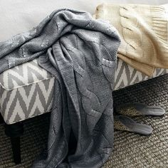 Gilded Cable Throw | west elm