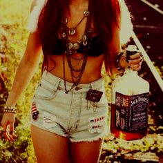 Outfit- Yes! Monster bottle of jack? Not so much lol...