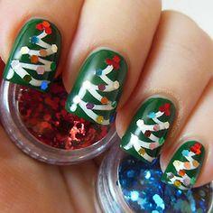 Uñas navidad   Nails chistmas