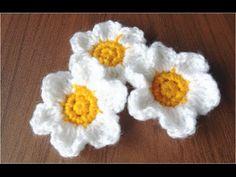 ふんわり可憐な、かぎ針編みの花の編み図と編み方スライド、 - YouTube