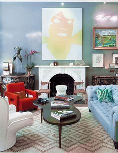 Eclectic Colours Patterns Via Elle Decor Espana