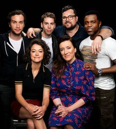 together we are one — Orphan Black cast portraits for AOL Build (June 6,...