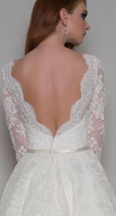 $174.29- Elegant Appliqued Lace Short Wedding Dress with Open Back. http://www.ucenterdress.com/a-line-knee-length-half-sleeve-appliqued-bateau-neck-lace-wedding-dress-pMK_705314.html.  Free Custom-made & Free Shipping! Shop lace wedding dress, strapless wedding dress, backless wedding dress, with sleeves, mermaid wedding dress, plus size wedding dress, We have great 2016 best Wedding Dresses on sale at #UcenterDress.com today!