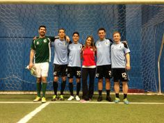 Loons meet with WCCO reporter before practice. #SupportLocal