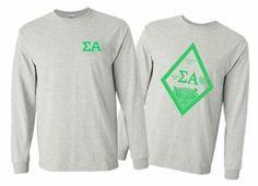 Sigma Alpha World Famous Crest Long Sleeve T-Shirt