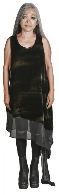 Mark Baigent - Flair tank dress - unconventional Batik Pattern, Asymmetrical Dress, Silk Chiffon, Tank Dress, Size Model, Dresses Online, Hemline, Designer Dresses, Collection
