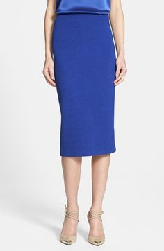 The one and only skirt for any job interview! Guaranteed to get you hired on the spot! St. John Collection Box Knit Long Pencil Skirt available at #Nordstrom