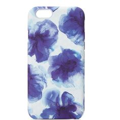 Jigsaw Ink Blue Floral Iphone 6 Case ($36) ❤ liked on Polyvore featuring accessories, tech accessories, phone cases, phone and blue
