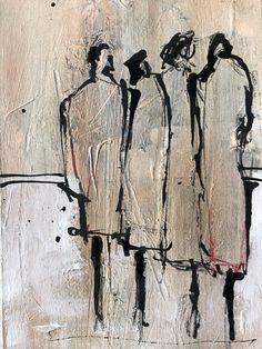 Figur Zeichnung Abstrakt - Lynne Seawell's World Figure Painting, Figure Drawing, Painting Art, African Art Projects, Modern Art, Contemporary Art, Art Techniques, Figurative Art, Painting Inspiration