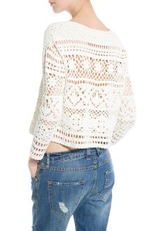 Crochet cortada camisola