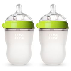 Comotomo Baby Bottle, Green, 8 Ounce (2 Count) #baby  #babyregistry #babyessentials #WhatBabiesLove #babyproducts #babymusthave #pregnantdogideas #diapers #babies #newmoms  #parentingtips  #moneysaving  #baby  #pregnancy #mom #toys
