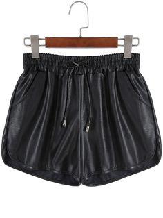 Shorts cintura elástica-(Sheinside)