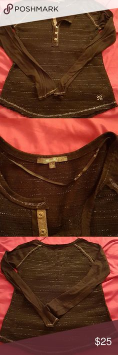 Miss me long sleeve Black long sleeve miss me shirt excellent condition like new Miss Me Tops Tees - Long Sleeve