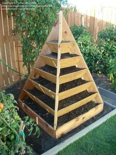 pyramid for growing herbs, strawberries and the like