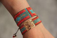 bracelets Mishky Loom Bracelet Patterns, Seed Bead Patterns, Bead Loom Bracelets, Woven Bracelets, Beading Patterns, Fabric Beads, Loom Beading, Bead Art, Loom Bracelets