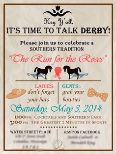 My Kentucky Derby Party invitation!