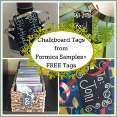 Second Chance to Dream: DIY Chalkboard Tags from Formica Samples