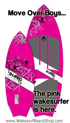 Wakesurf Board for women in pink. Good for beginners and intermediate, kids, on sale $300 #pinkwakesurfboard