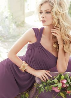 Bridesmaids and Special Occasion Dresses by Jim Hjelm Occasions - Style jh5403 in frosted violet