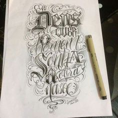 Tattoo Lettering Styles, Chicano Lettering, Tattoo Fonts, Peace Tattoos, Love Tattoos, New Tattoos, Skull Tattoo Design, Tattoo Designs, Ozzy Tattoo