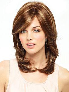 medium layered haircut with  highlights 2017