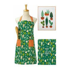 Plant Life Apron and Kitchen Towels by Peking Handicraft Kitchen Towels, Handicraft, Apron, Cactus, Succulents, Plant, Life, Fashion, Craft