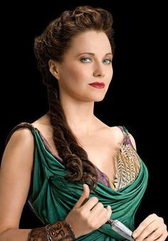 Lucy Lawless como Lucretia en Spartacus