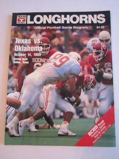 1989 TEXAS LONGHORNS VS OKLAHOMA - OFFICIAL FOOTBALL GAME PROGRAM - TUB FP