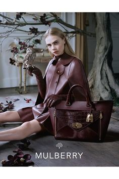 Cara Delevigne for Mulberry A/W 2013-14 campaign