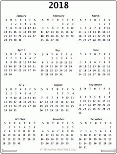 2018 Calendar - This Calendar Portal provides you Free Printable Calendar, Template, Pdf, Word, Excel, Image. Here you can search all the monthly calendars and Holidays