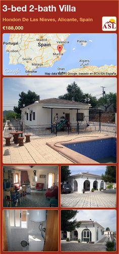 3-bed 2-bath Villa in Hondon De Las Nieves, Alicante, Spain ►€188,000 #PropertyForSaleInSpain