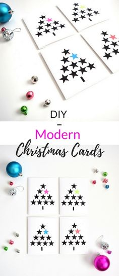 How to make these modern Christmas cards in under 5 minutes!