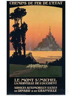 Le Mont St. Michel Giclee Print at AllPosters.com