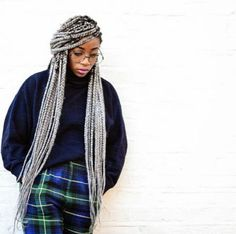 Top 60 All the Rage Looks with Long Box Braids - Hairstyles Trends Grey Box Braids, Colored Box Braids, Blonde Box Braids, Outfit Essentials, Box Braids Hairstyles, Beach Hairstyles, Protective Hairstyles, Faux Loc, Divas