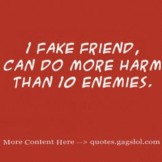 fake friends | One Fake Friend « Quotes