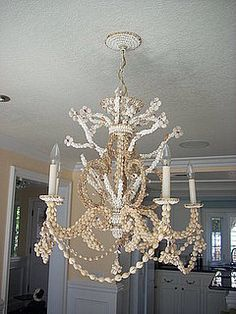 here she is again...  #shell chandelier