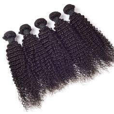 Fluffy Deep Curly Grade 7A Virgin Brazilian Hair Black 1 Pcs/Lot Hair Weave For Women #>=#>=#>=#>=#> Click on the pin to check out discount price, color, size, shipping, etc. Save and like it!